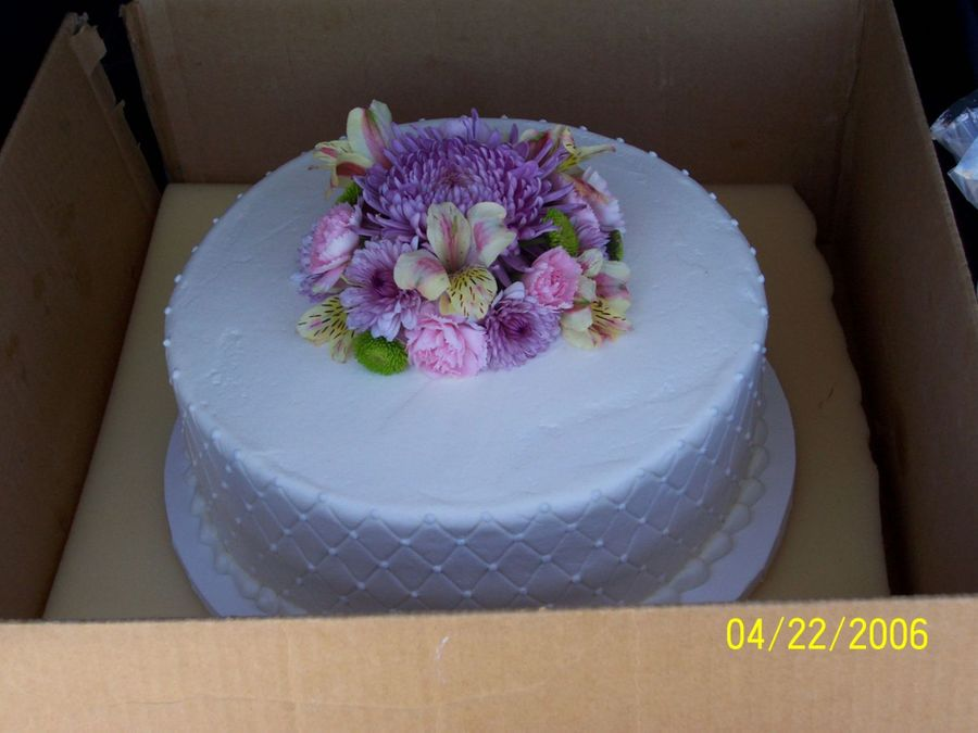 Fresh Flowers Cake on Cake Central
