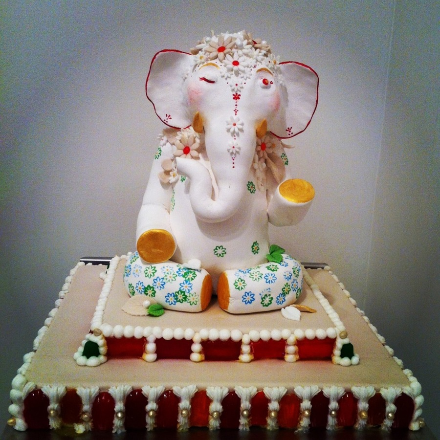 Ganesha Cake Images : My Lord Ganesha Cake That Won First Prize In An Art ...