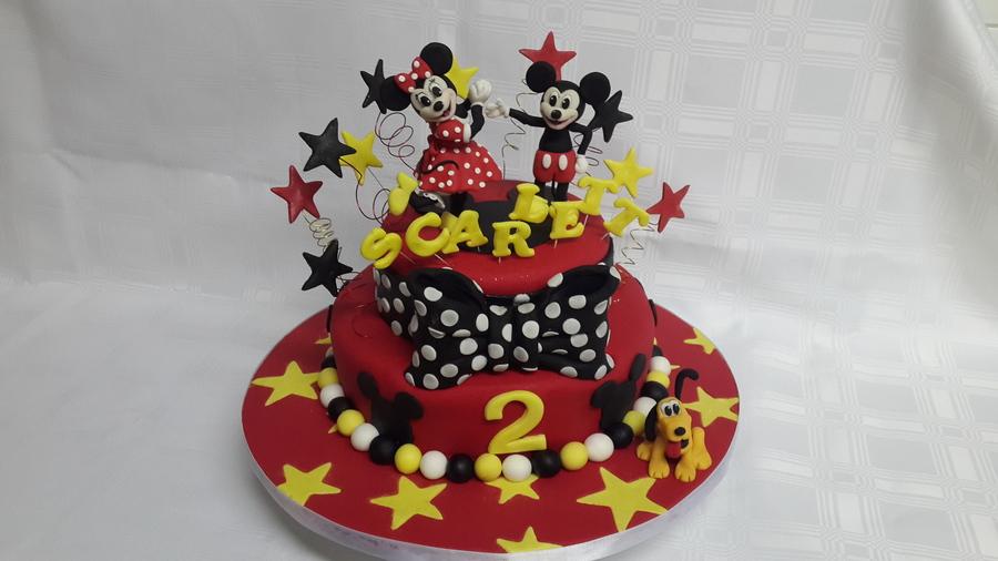 Cool Minnie Mickey Birthday Cake Cakecentral Com Personalised Birthday Cards Vishlily Jamesorg