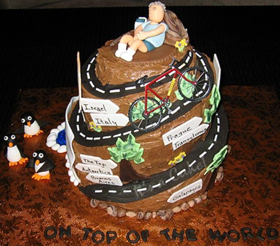 Prime Not Over The Hill But On Top Of The World Cakecentral Com Funny Birthday Cards Online Overcheapnameinfo