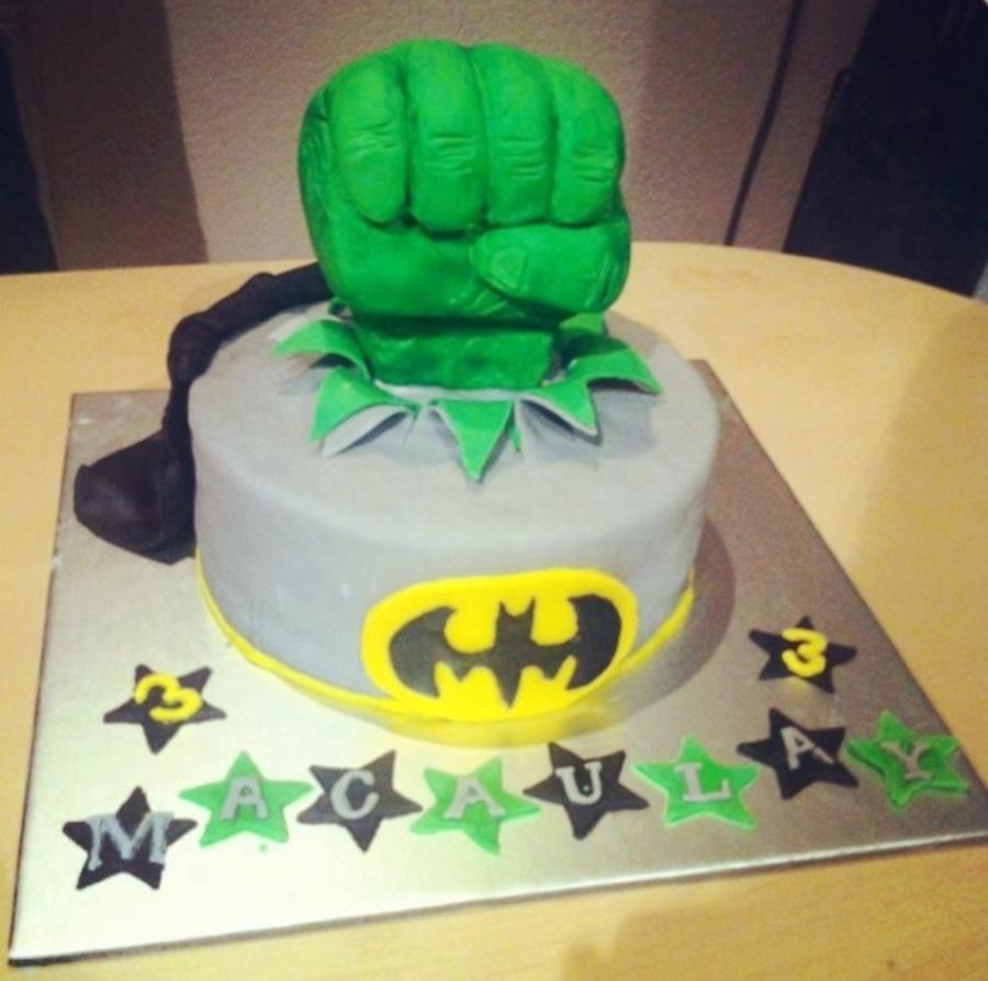Batman And Incredible Hulk Smash Cake Cakecentral