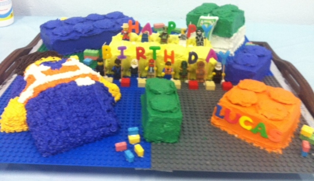 Lego Cake For Our Grandsons 7Th Birthday Made Emmett And Then ...