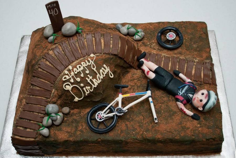 Mountain Bike Crash Birthday Cake Cakecentral