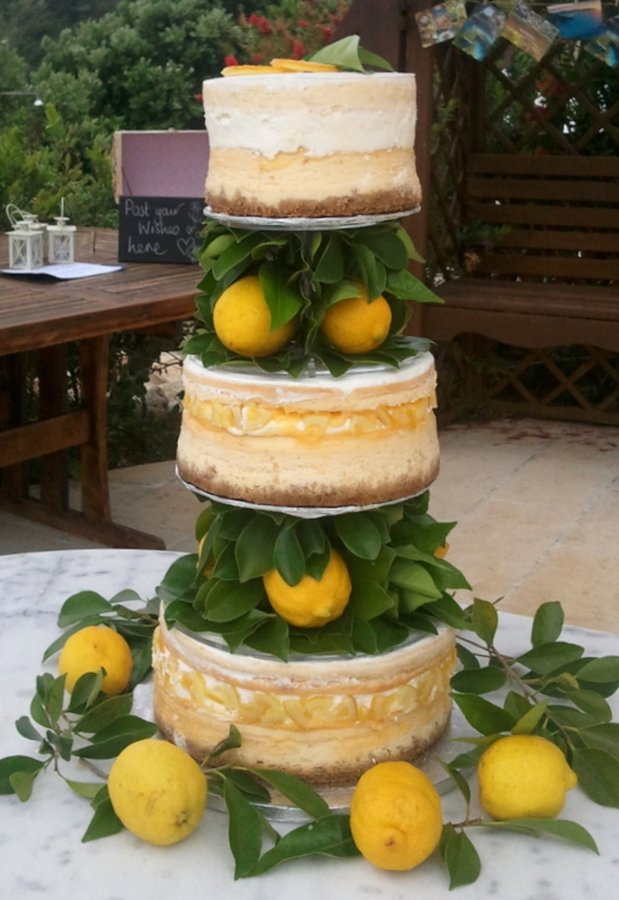 Rustic Wedding Cake Lemon Cheesecake With Ginger Biscuit