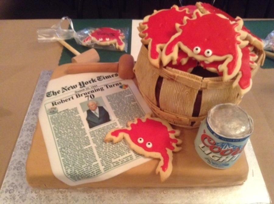 Basket Of Crabs Cake