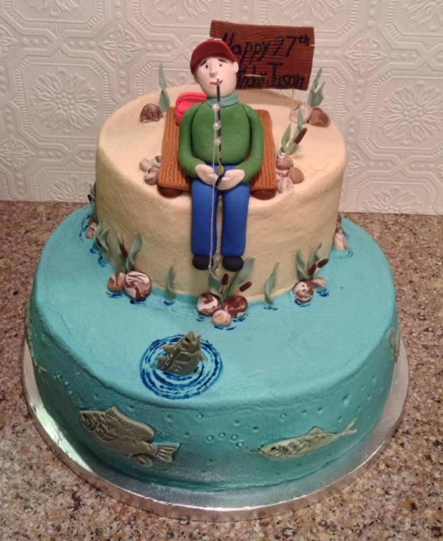 Fantastic Gone Fishing Birthday Cake Cakecentral Com Funny Birthday Cards Online Alyptdamsfinfo