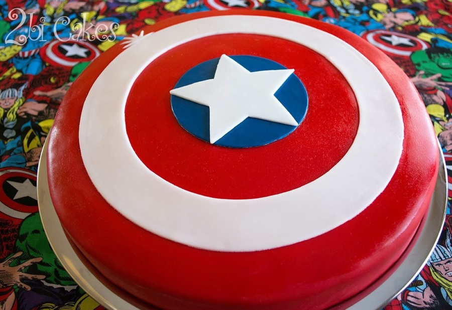 Captain America Birthday Cake Cakecentral