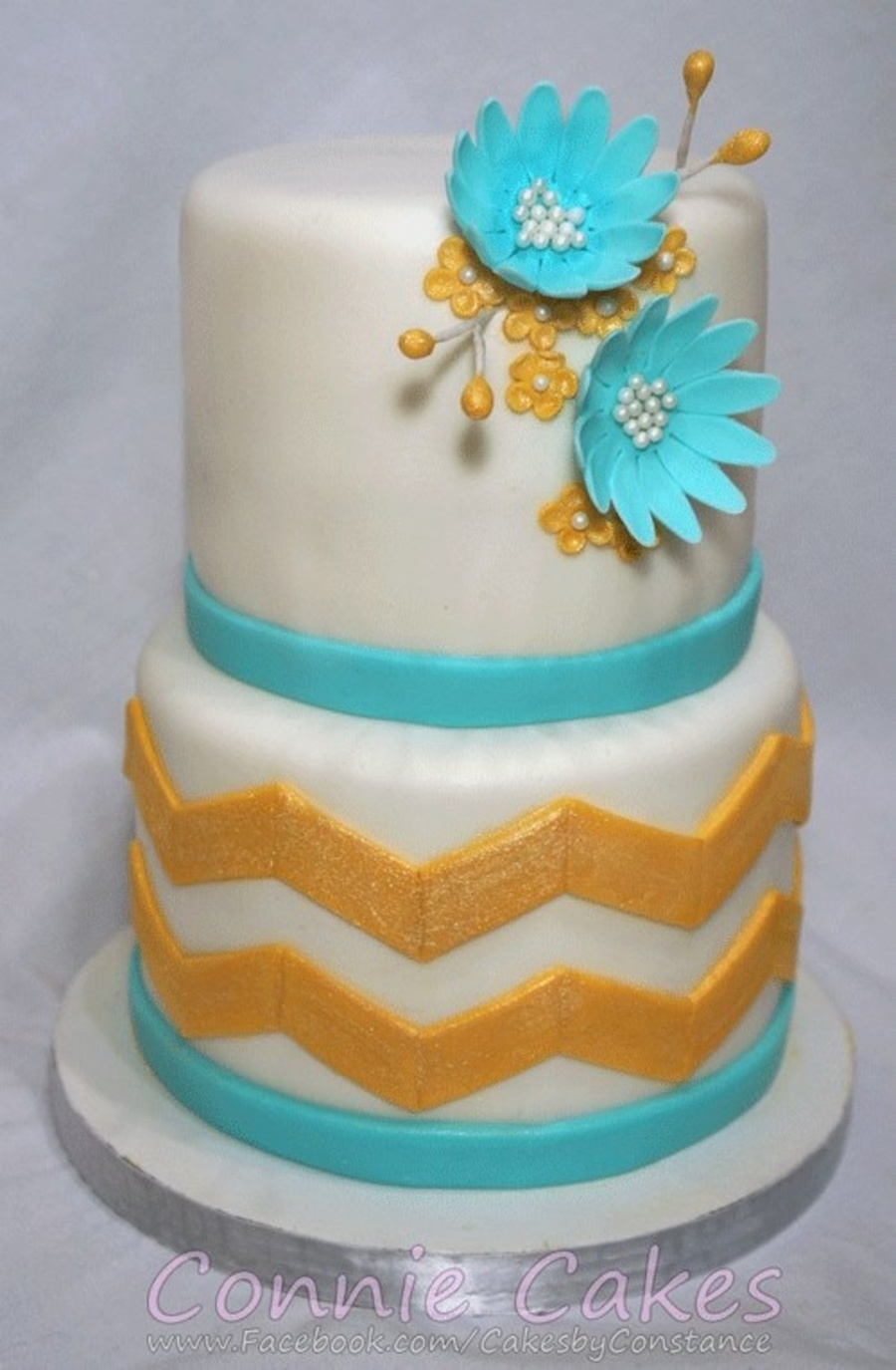 Gold Chevrons Gold And Light Blue Colors In A Simple Modern Design ...