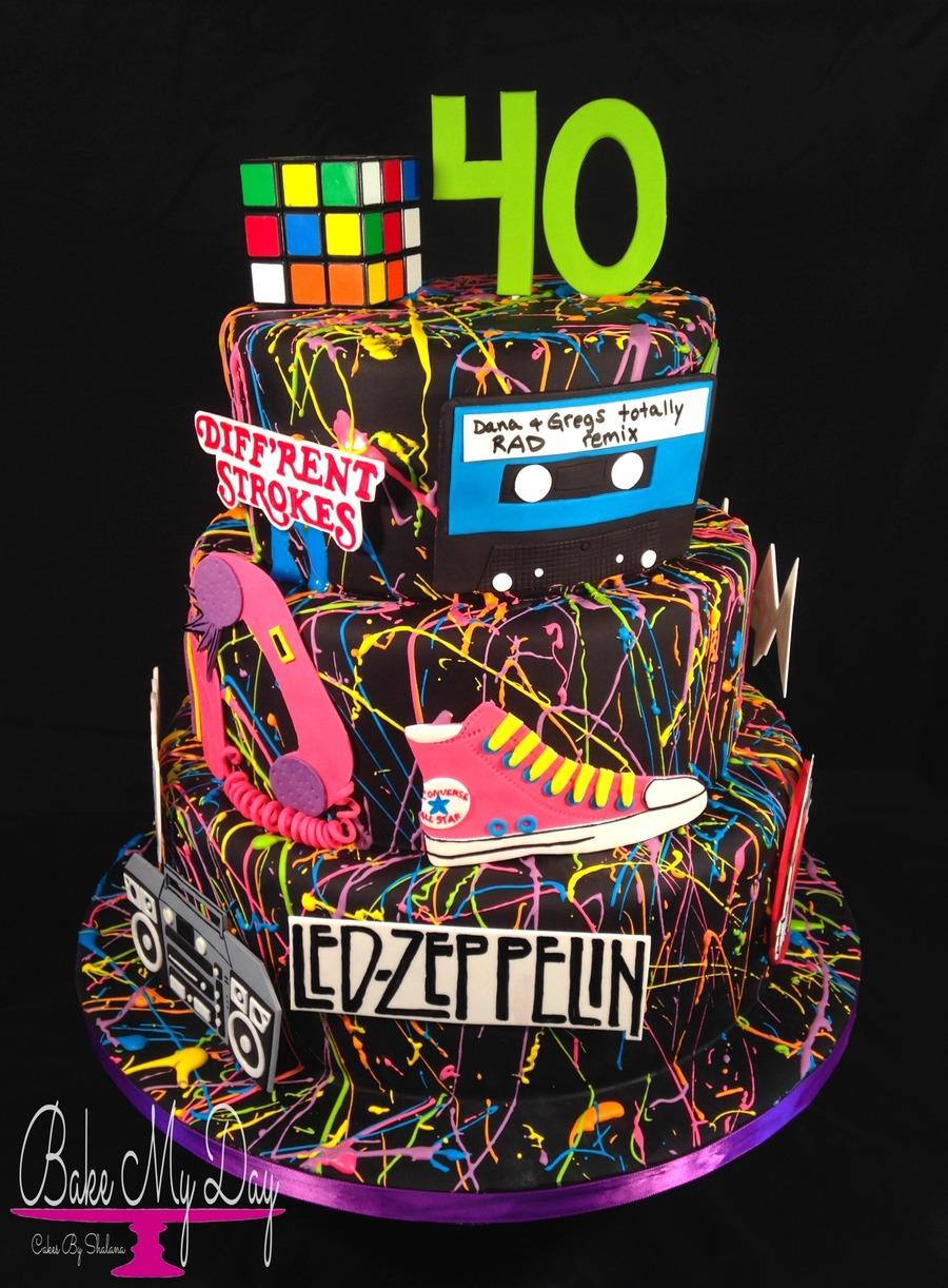 Wondrous 80S Themed Birthday Cake Cakecentral Com Funny Birthday Cards Online Elaedamsfinfo