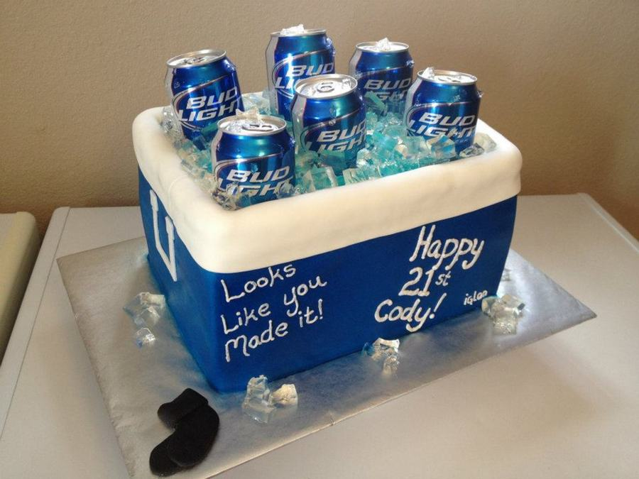 Outstanding Beer Cooler 21St Birthday Cake Cakecentral Com Funny Birthday Cards Online Sheoxdamsfinfo