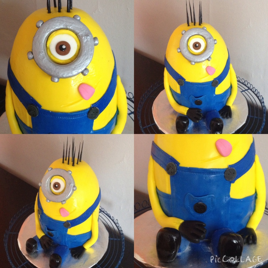Minion Cake Without The Google Strap CakeCentralcom