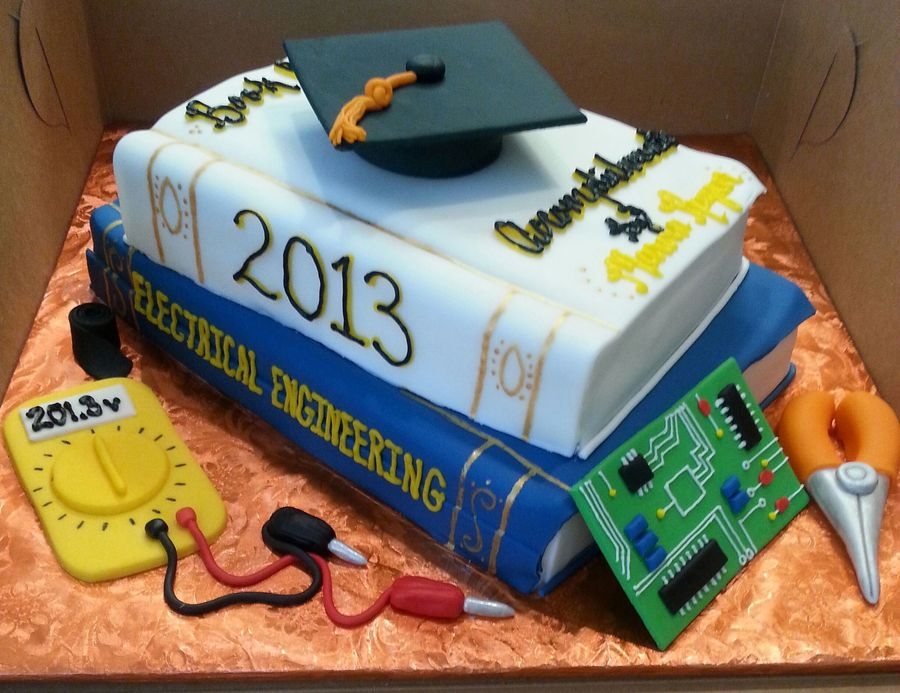 Electrical Engineer Grad Cake!!! on Cake Central