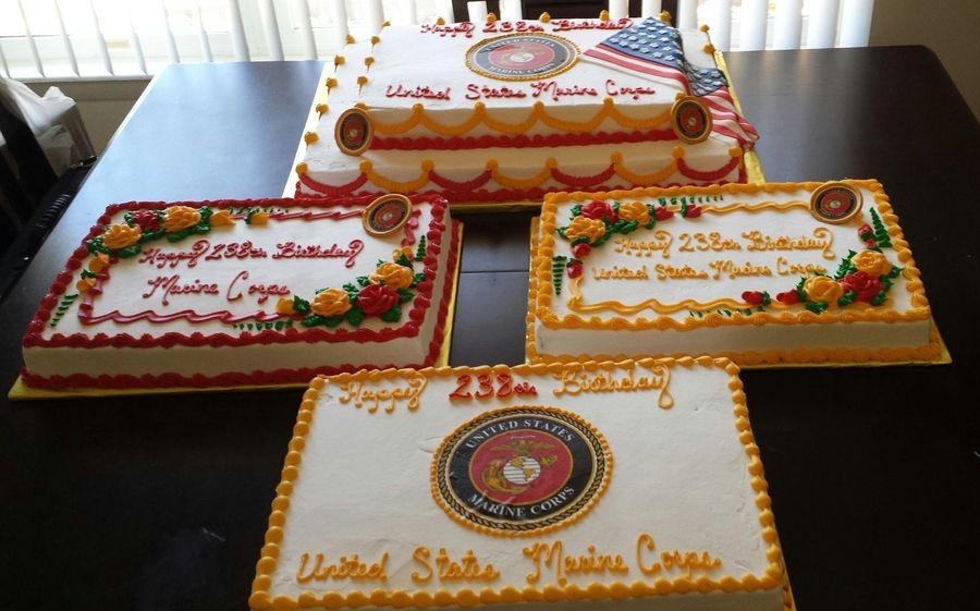 Wondrous Marine Corps 238Th Birthday Cakecentral Com Birthday Cards Printable Trancafe Filternl