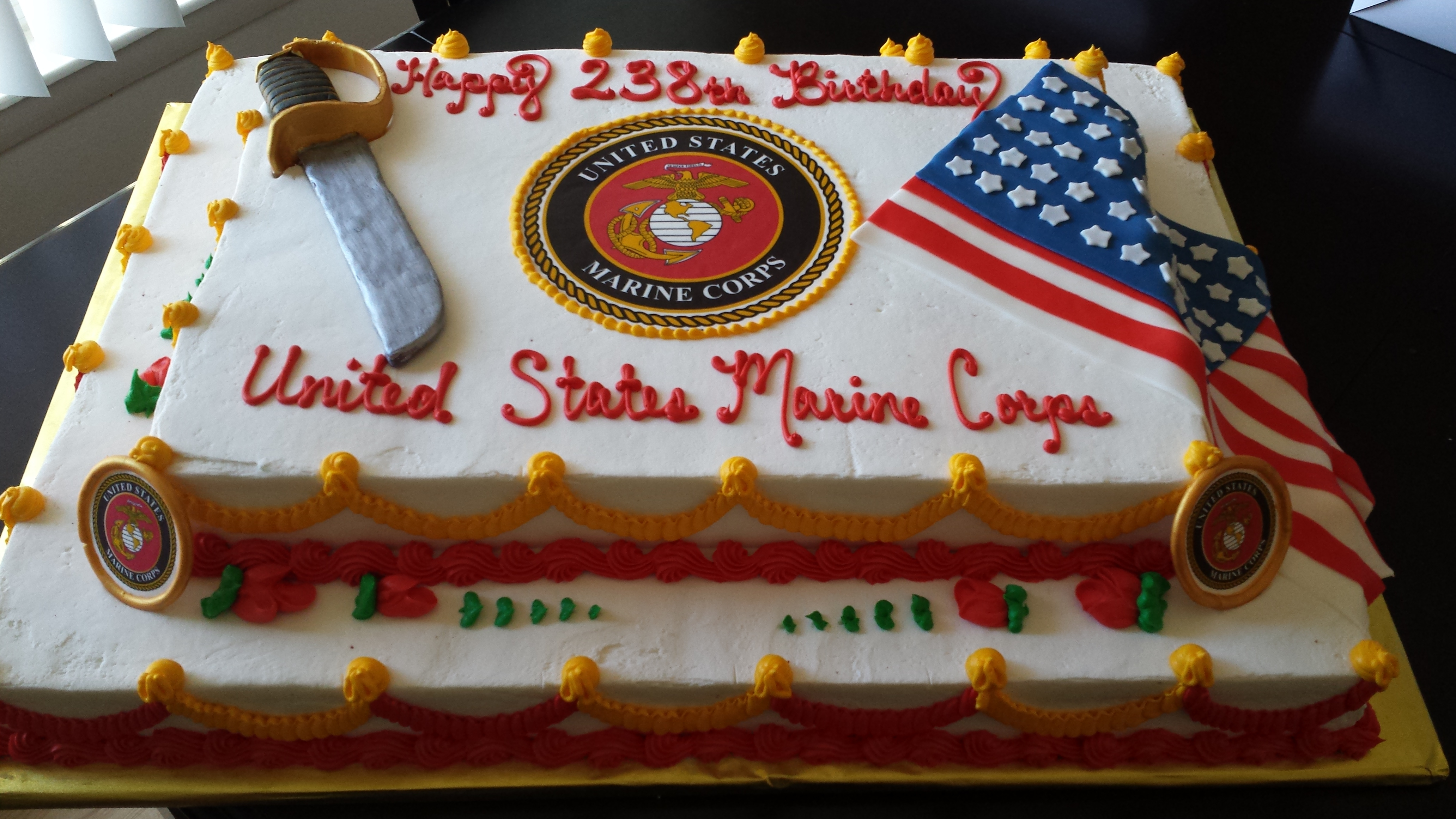 Marine Corps 238th Birthday Cakecentral