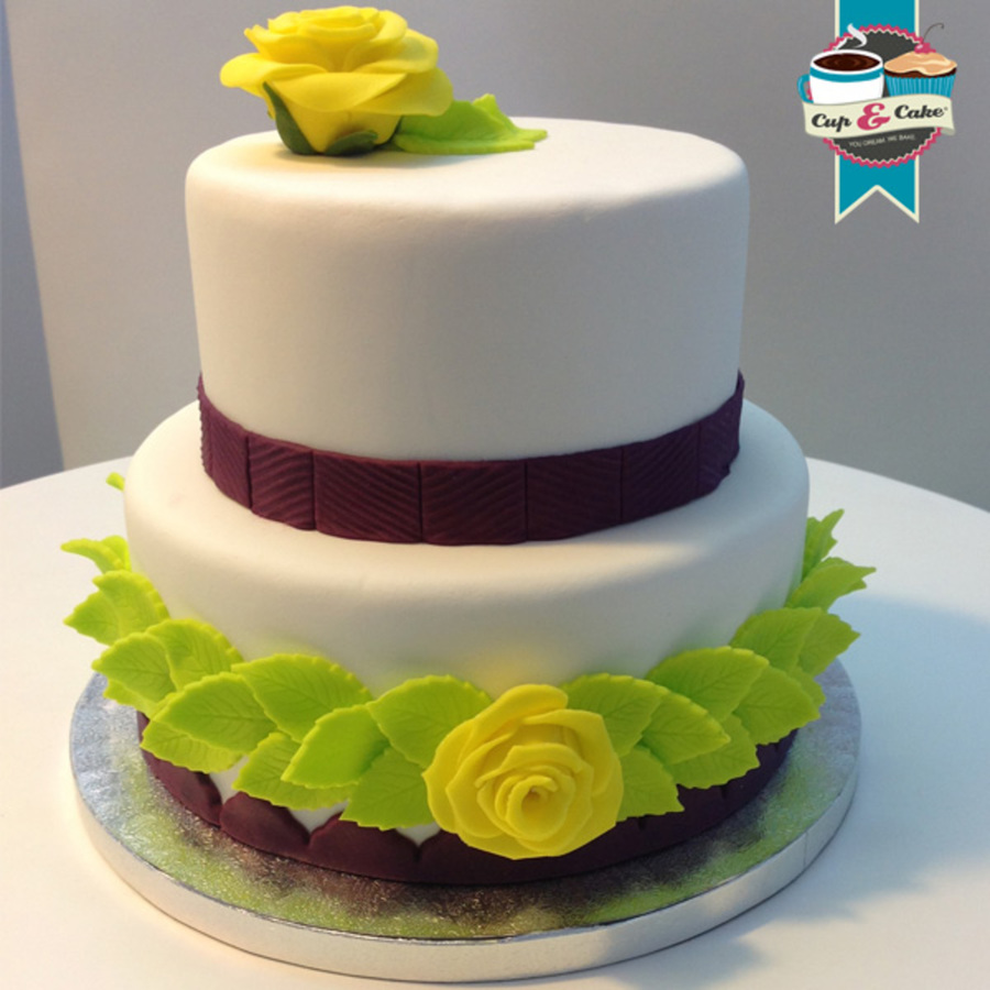 Simple But Elegant Wedding Cake Cakecentral Com