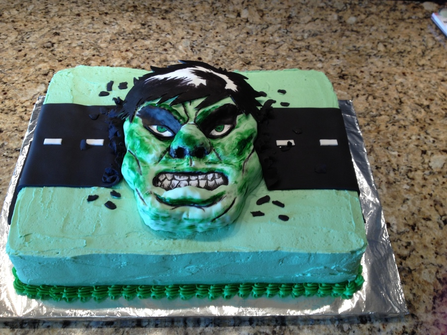 Hulk Cake Hulk Is Molded Out Of Rice Krispie Treats Covered With ...