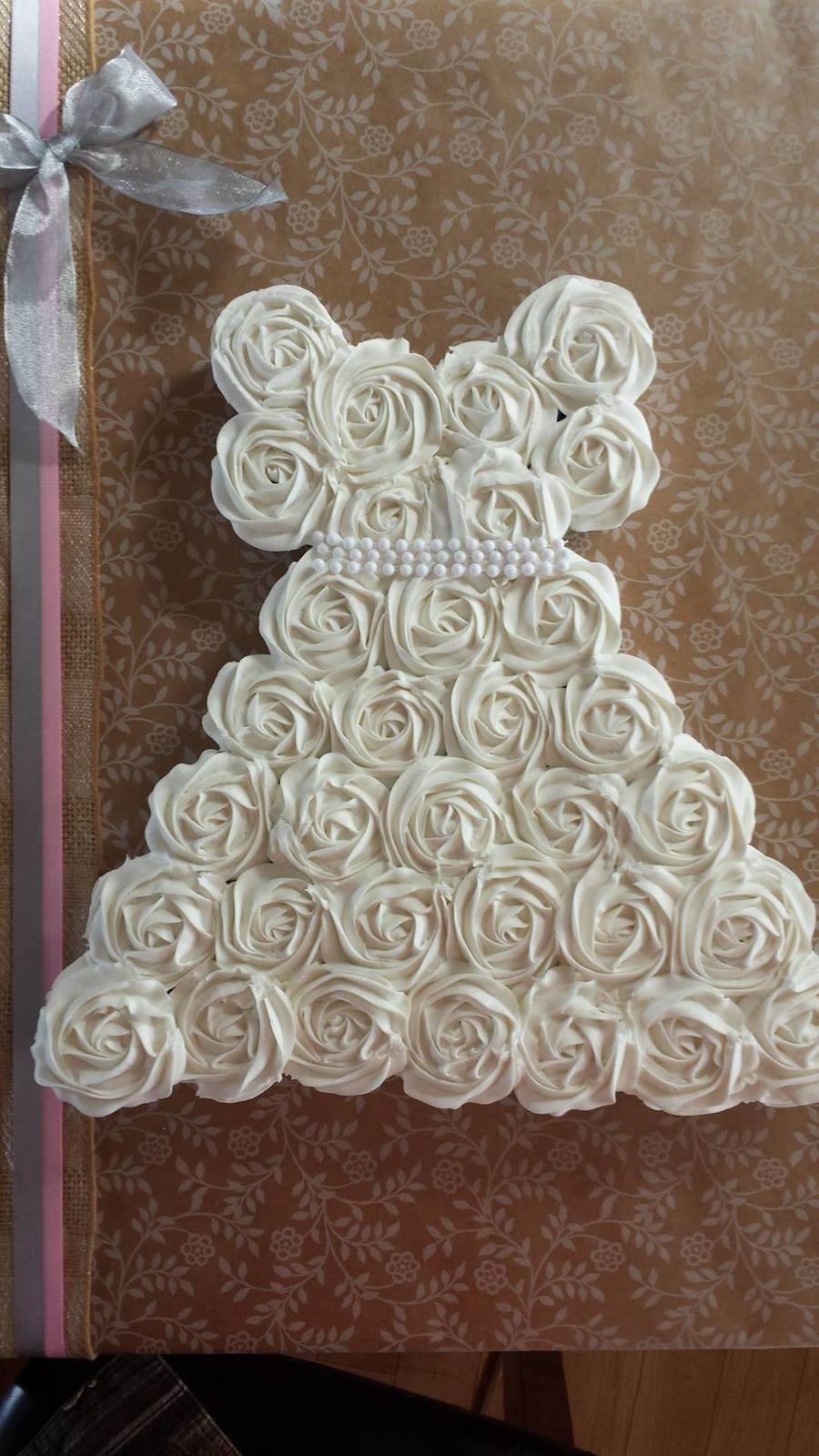 Wedding Dress Bridal Shower Cupcakes On Cake Central
