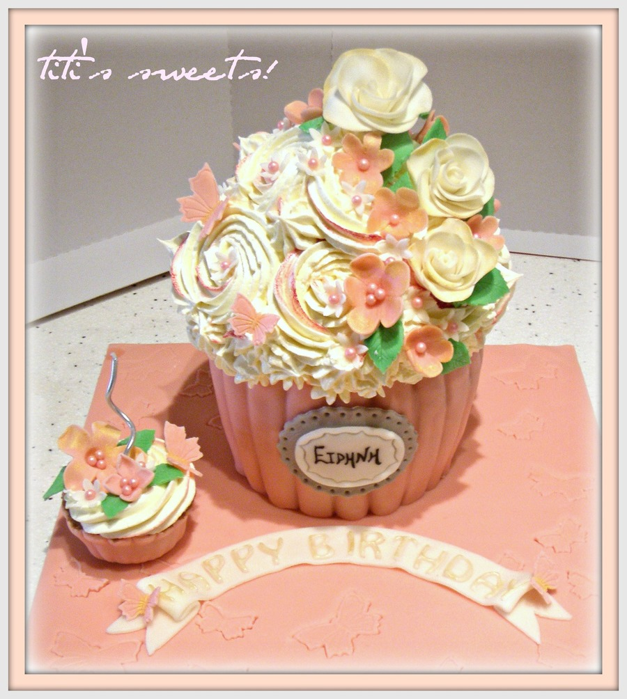 Moist And Juicy Vanilla Cake With Buttercream And Decorating With Sugar Flowers on Cake Central