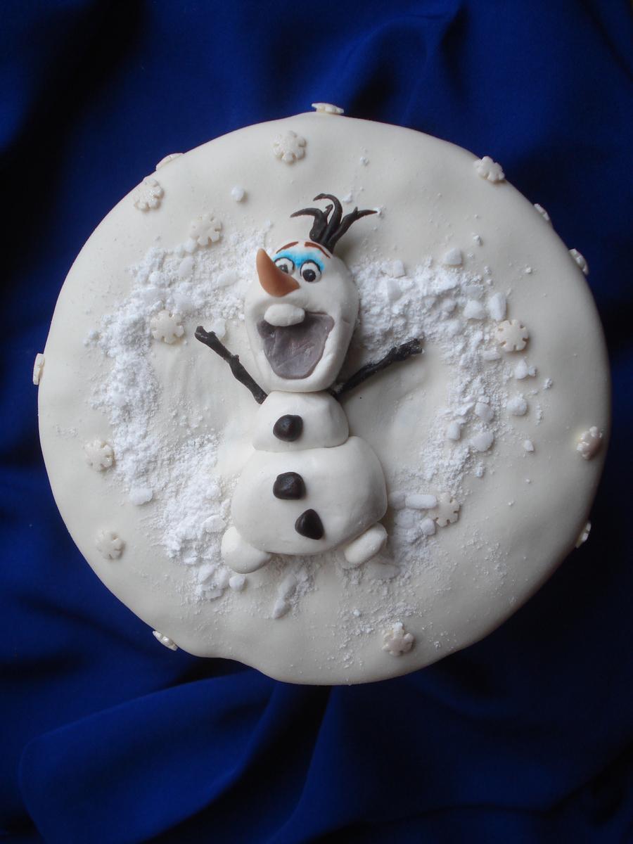 Olaf As A Snow Angel Cakecentral Com