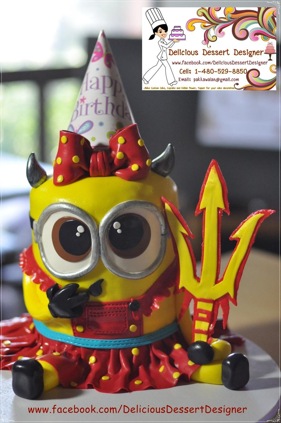 Sun Devil Minion Girl Birthday Cake Cakecentral Com
