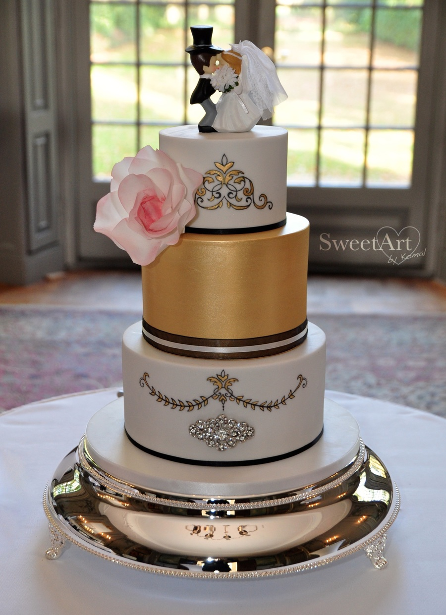Rococo Style Wedding Cake