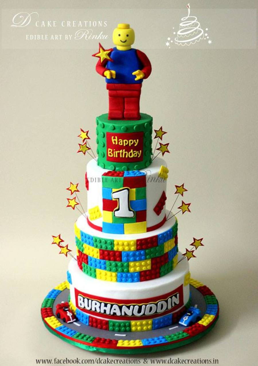 Lego Theme Birthday Cake Cakecentral