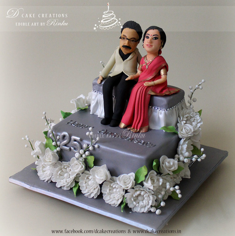 25th Wedding Anniversary Cake Cakecentral Com