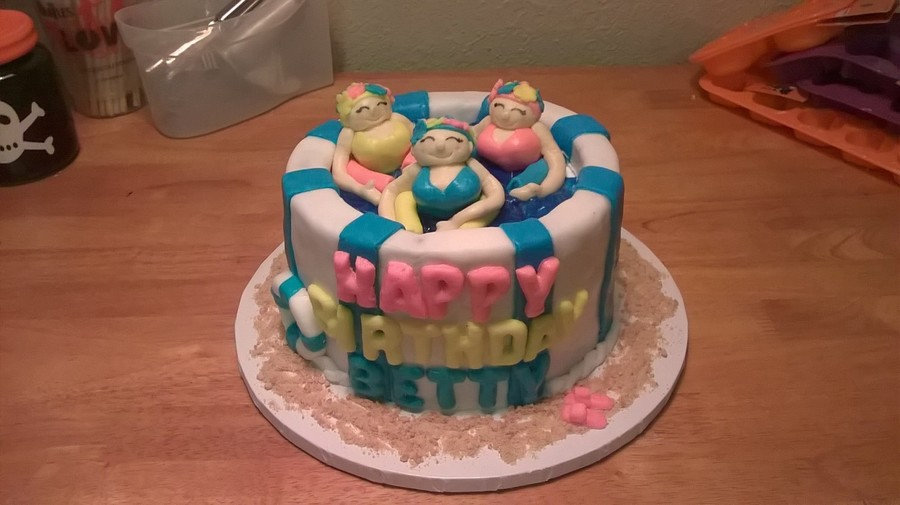 Water Aerobics Swimming Pool Cake Cakecentral