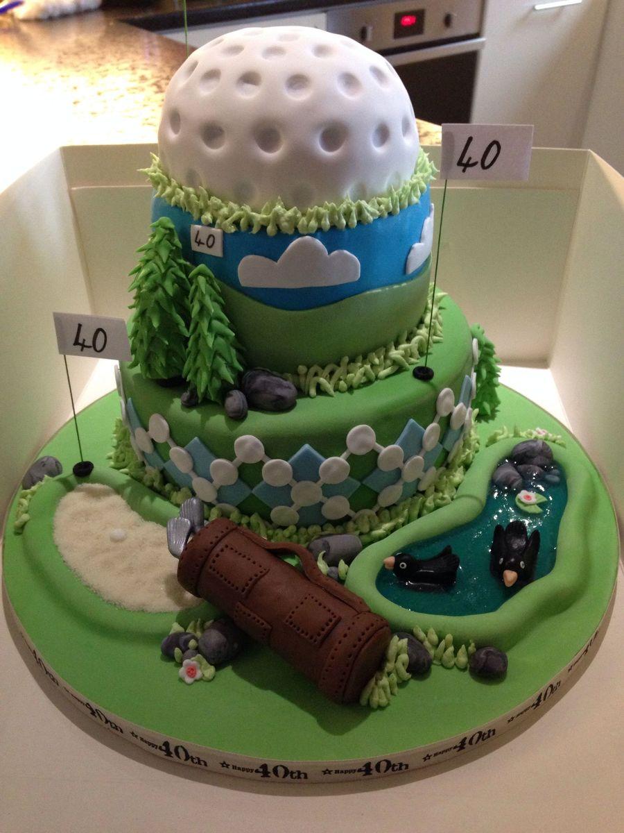 Th Birthday Golf Cake