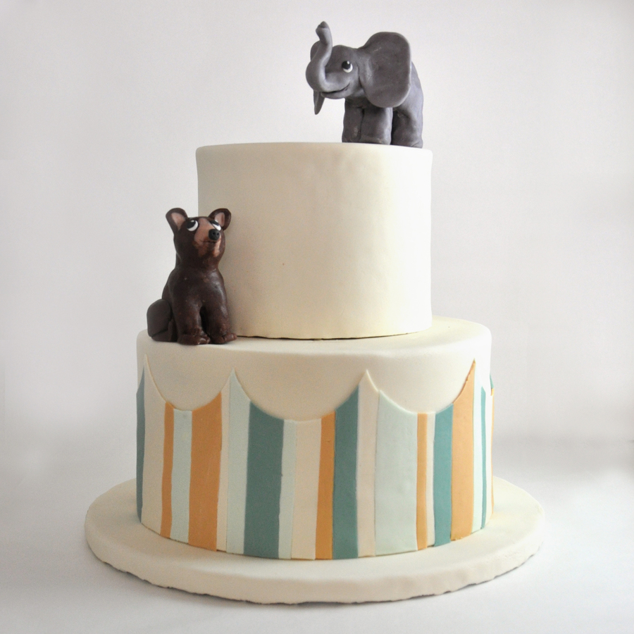 Baby Shower Cake Specs Were Green And Orange Gender Neutral And Baby ...
