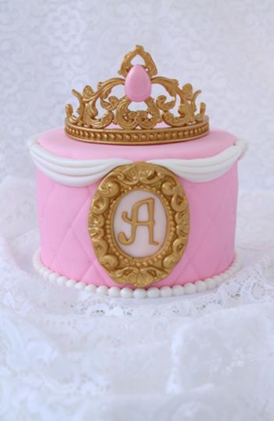 Royal Princess Crown Cake