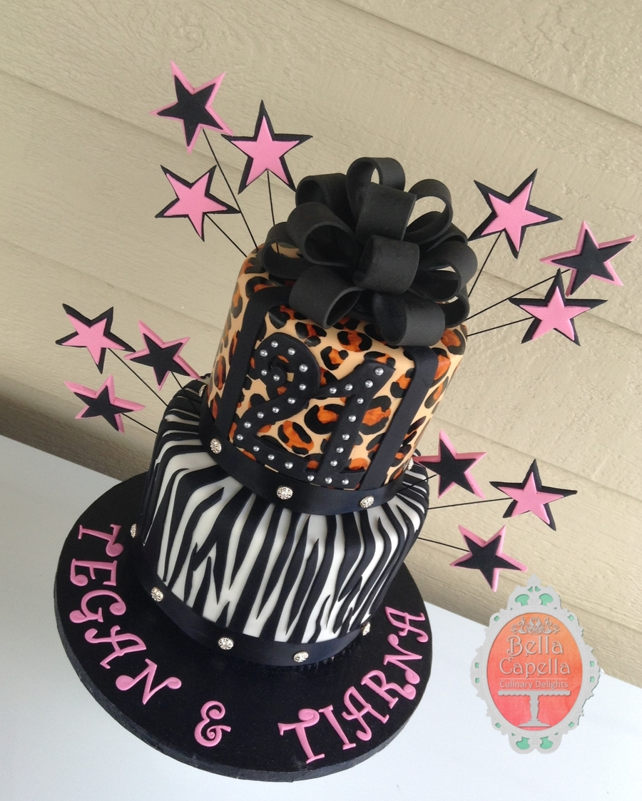 Two Tiered 21st Birthday Cake Cakecentral Com