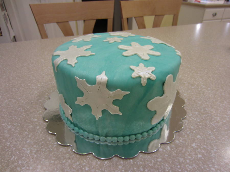 Winter Snowflake Cake. on Cake Central