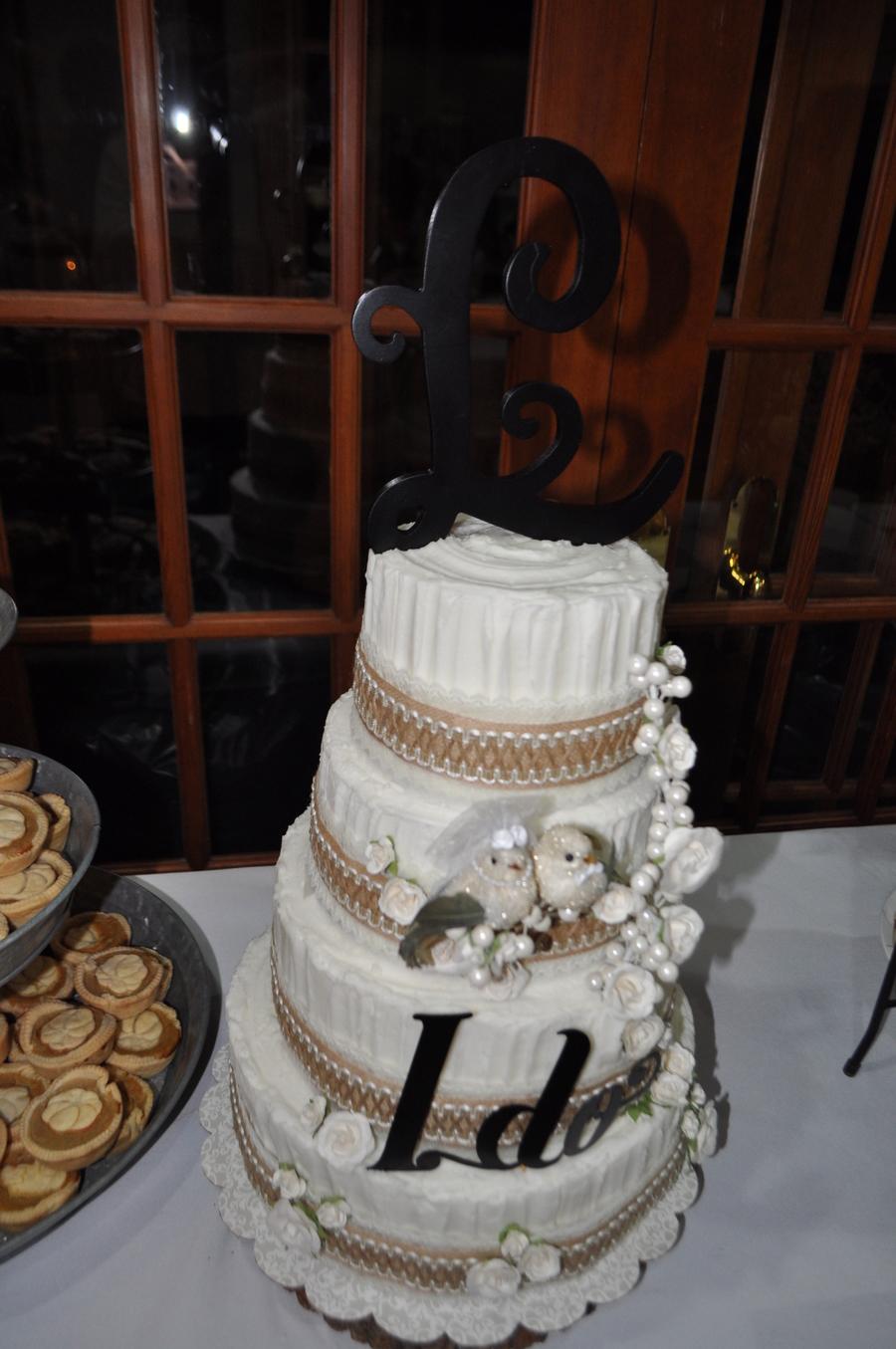 Burlap Lace Wedding Cake Cakecentral Com