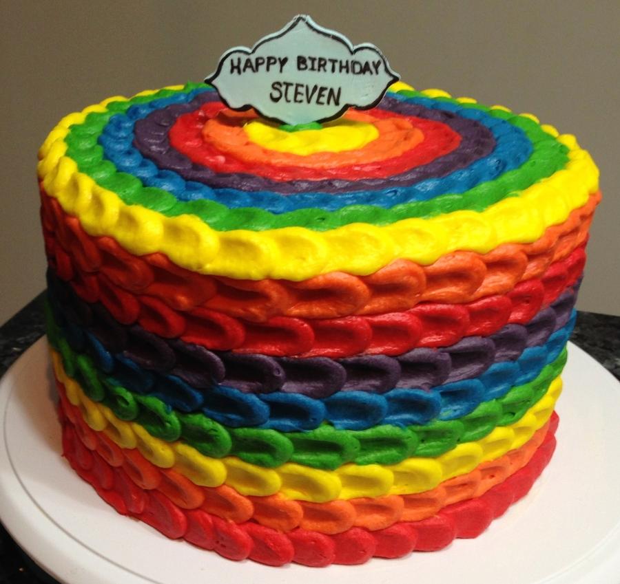 Rainbow Birthday Cake CakeCentralcom