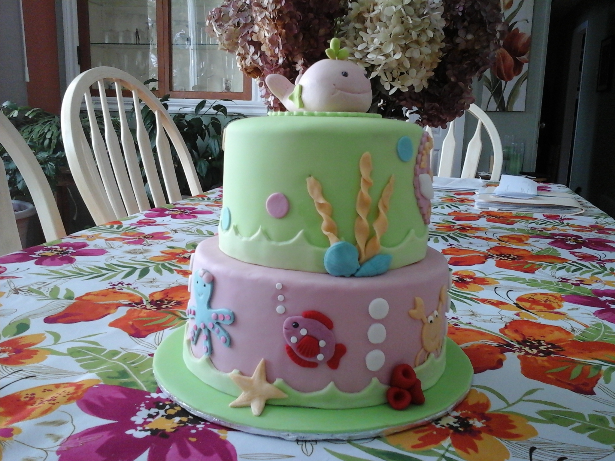 Under The Sea Baby Shower Cake CakeCentral