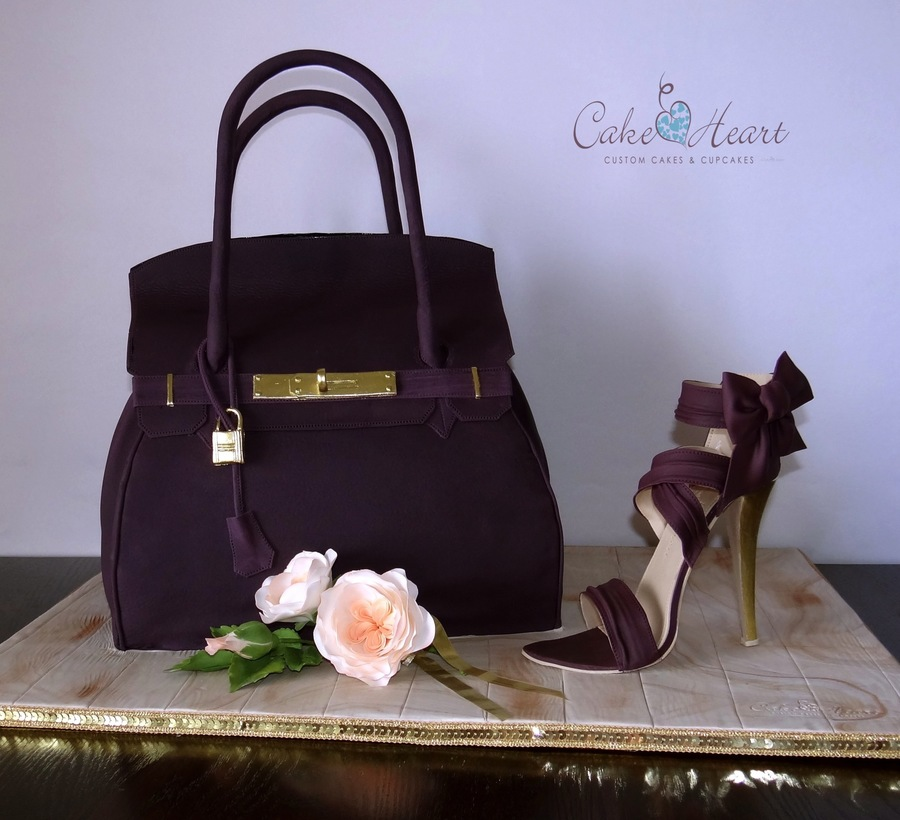 Herm 232 S Bag And A Cake Heart Shoe Cakecentral Com