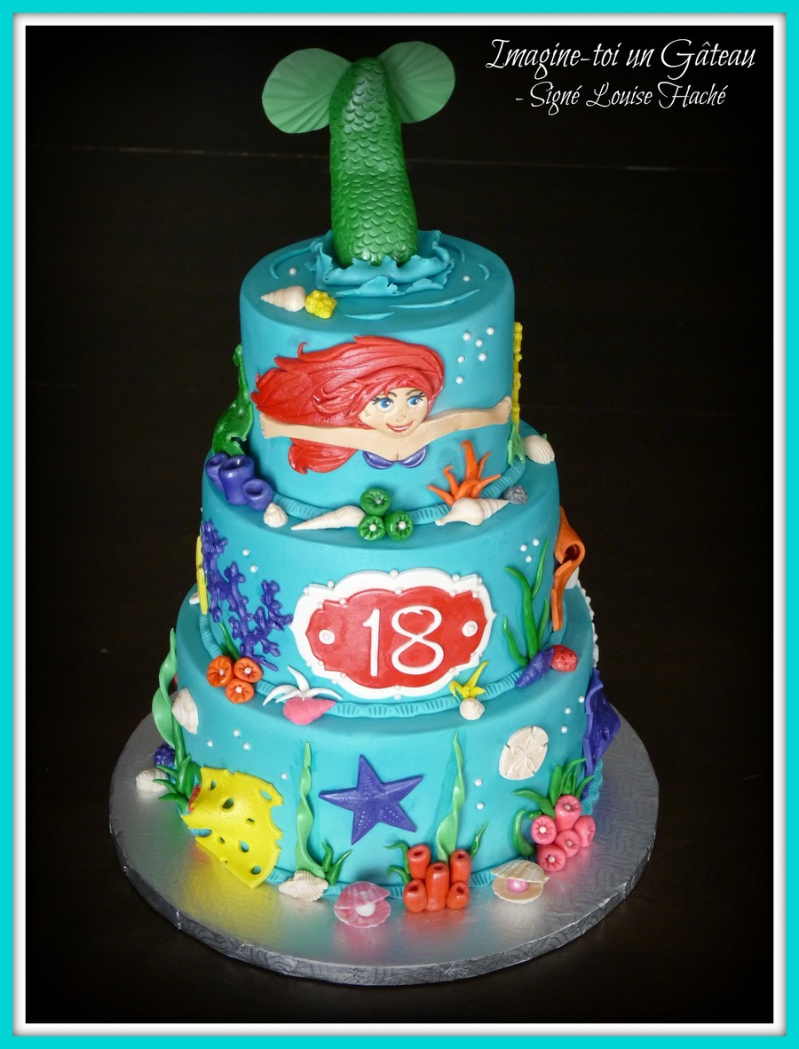 Edible Mermaid Cake Decorations