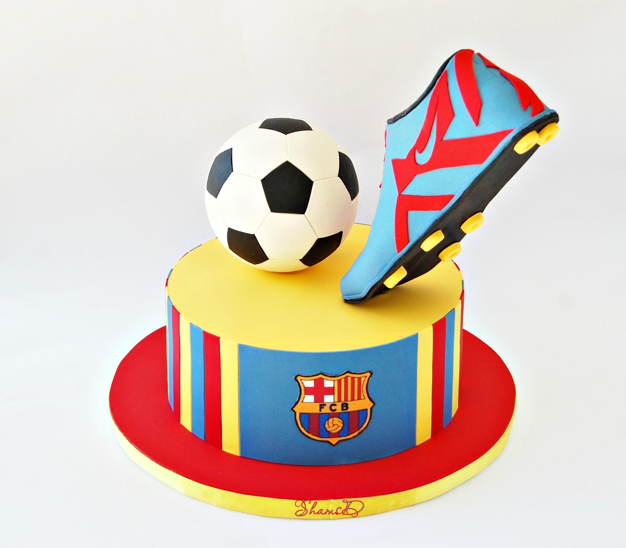 Soccer Cake: Barcelona Soccer Cake
