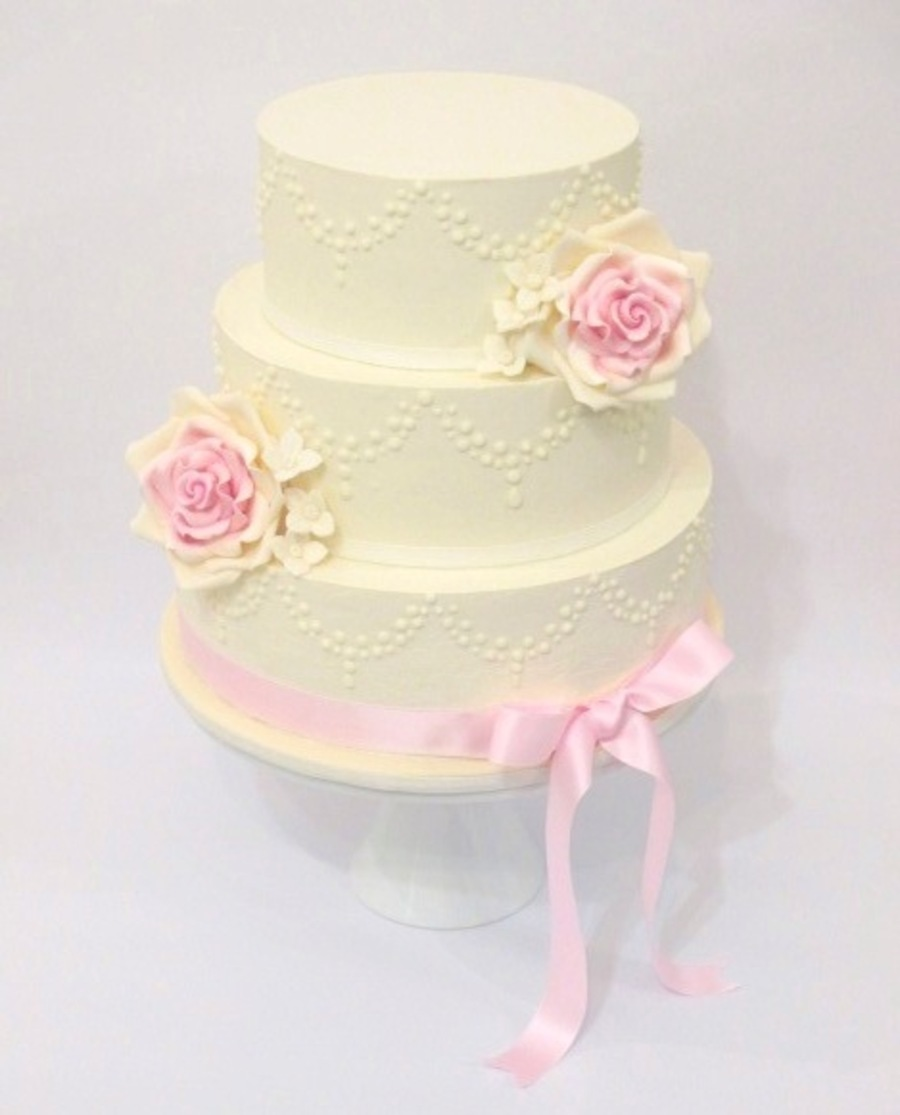 Vintage Rose In White Chocolate Ganache - CakeCentral.com