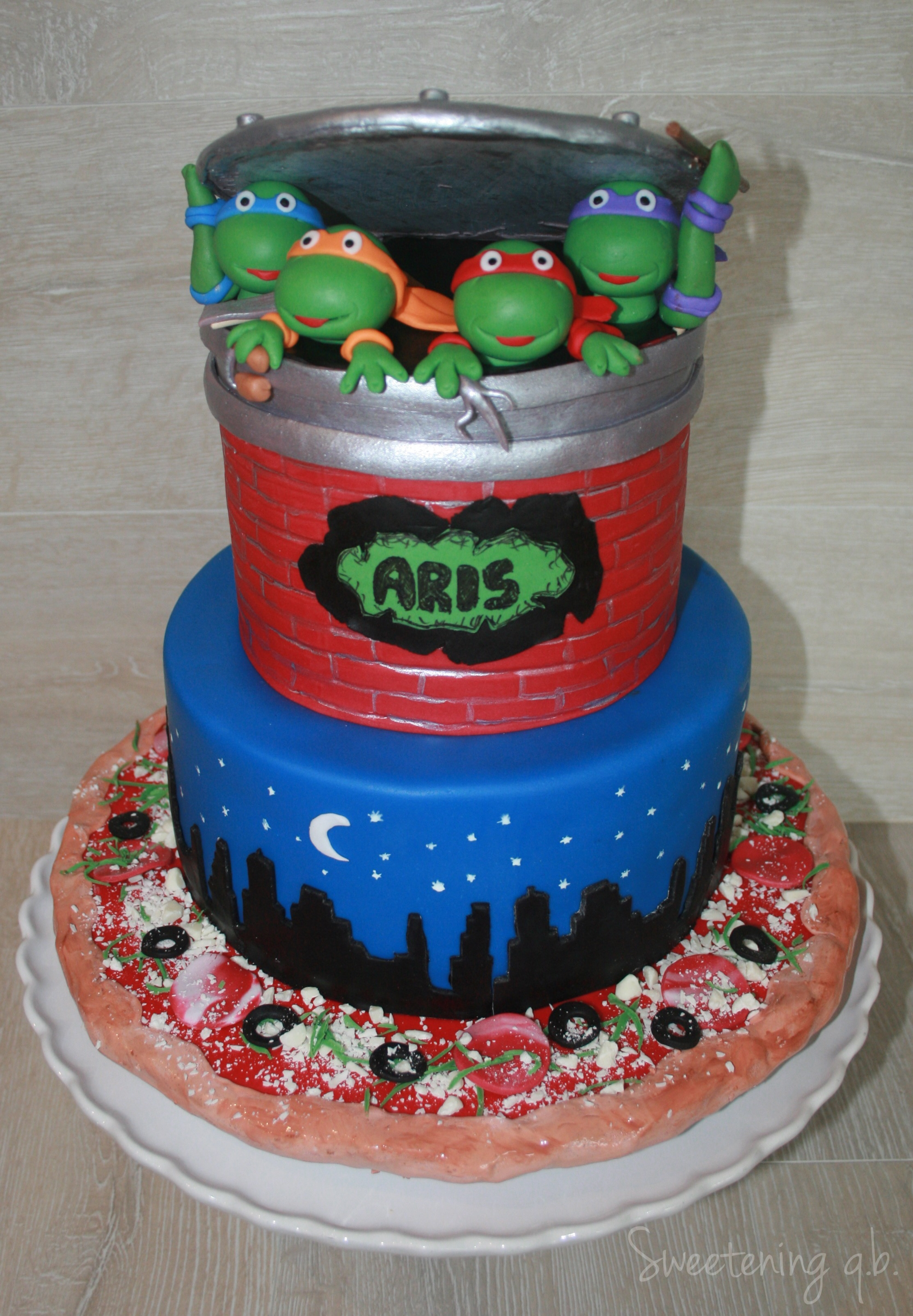 Ninja Turtles Cake For Aris 1st Birthday Cakecentral Com