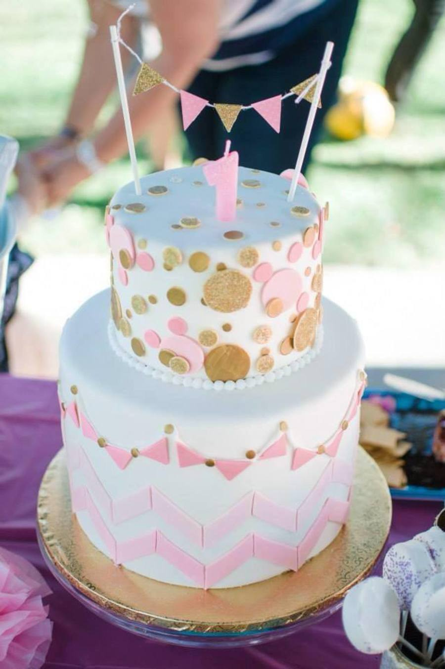Pink & Gold 1St Birthday - CakeCentral.com