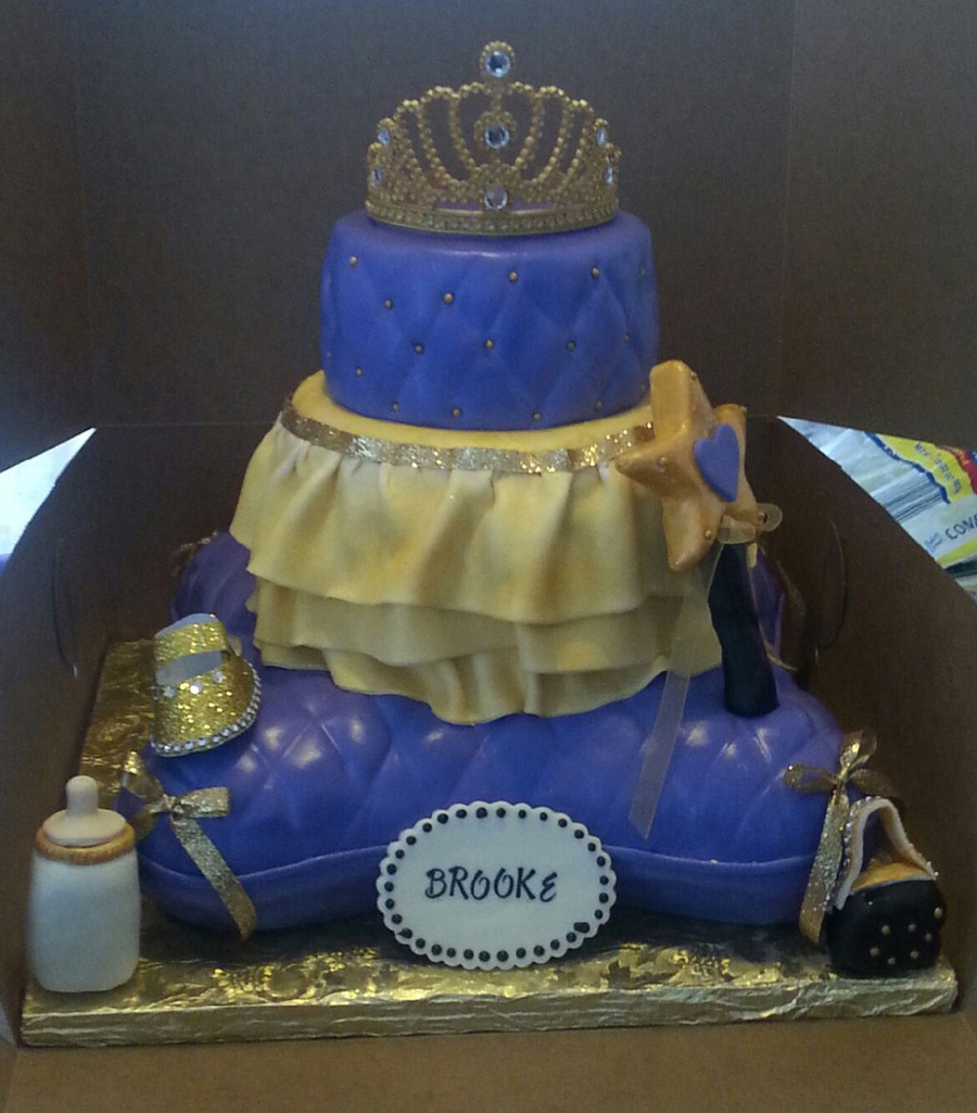 3 Tier Royal Princess Themed Baby Shower Cake Cakecentral
