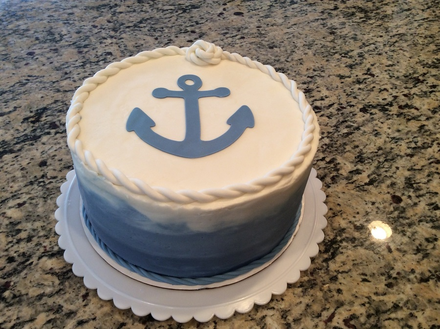 Anchor Baby Shower Cake on Cake Central