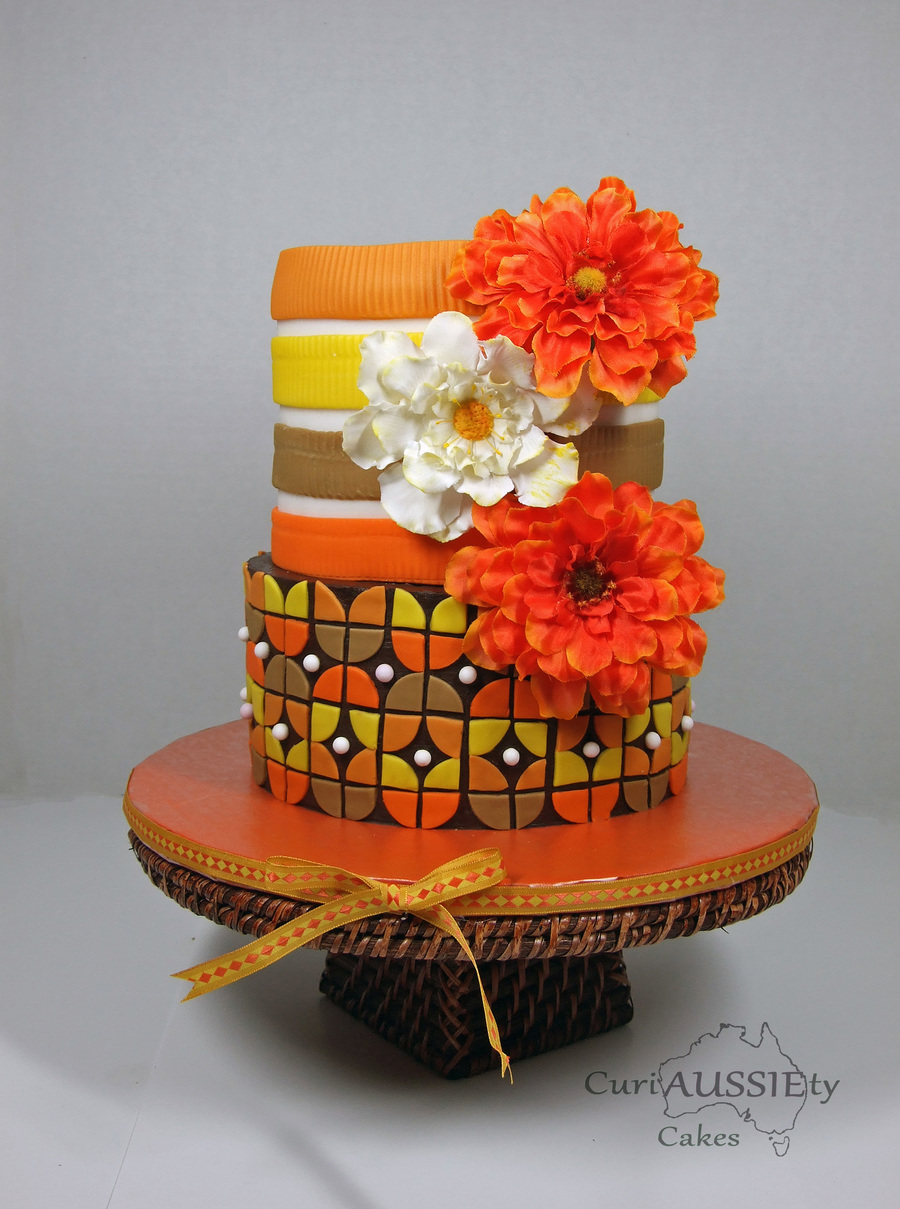 Retro Celebration Cake on Cake Central