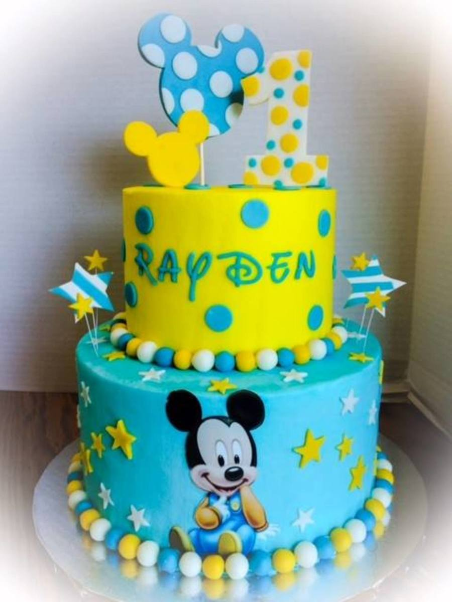 Mickey Mouse First Birthday Smash Cake
