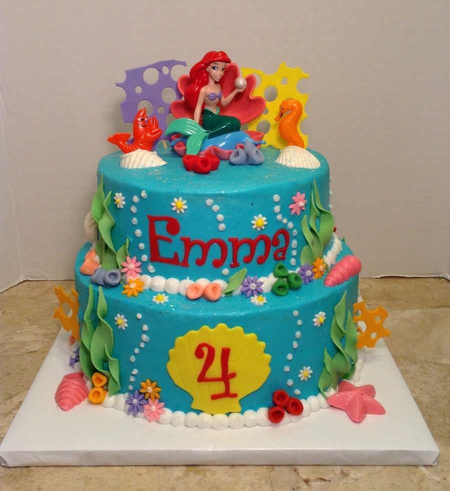Little Mermaid 4th Birthday Cake On Central