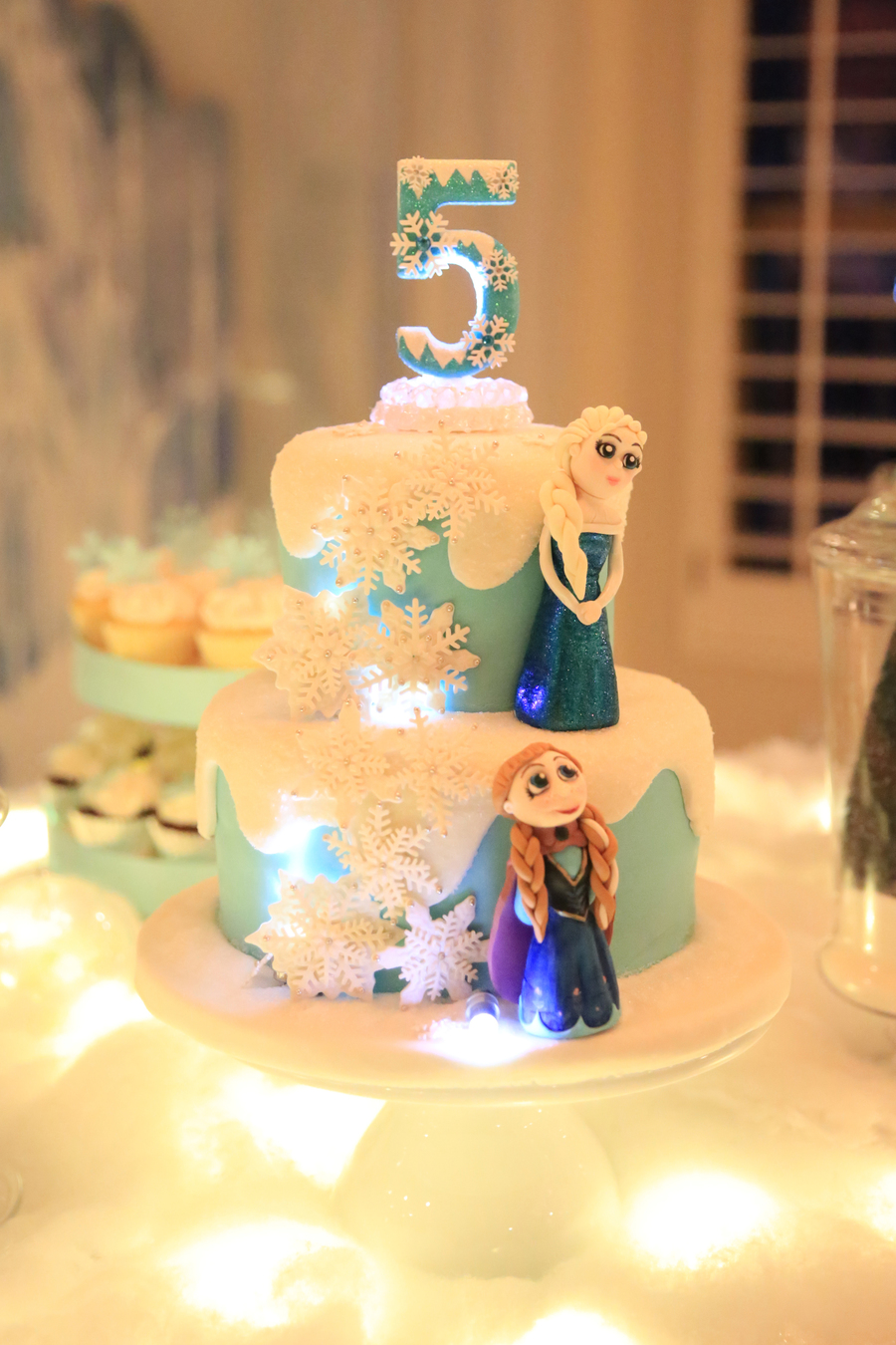 Frozen Themed Birthday Cake - CakeCentral.com