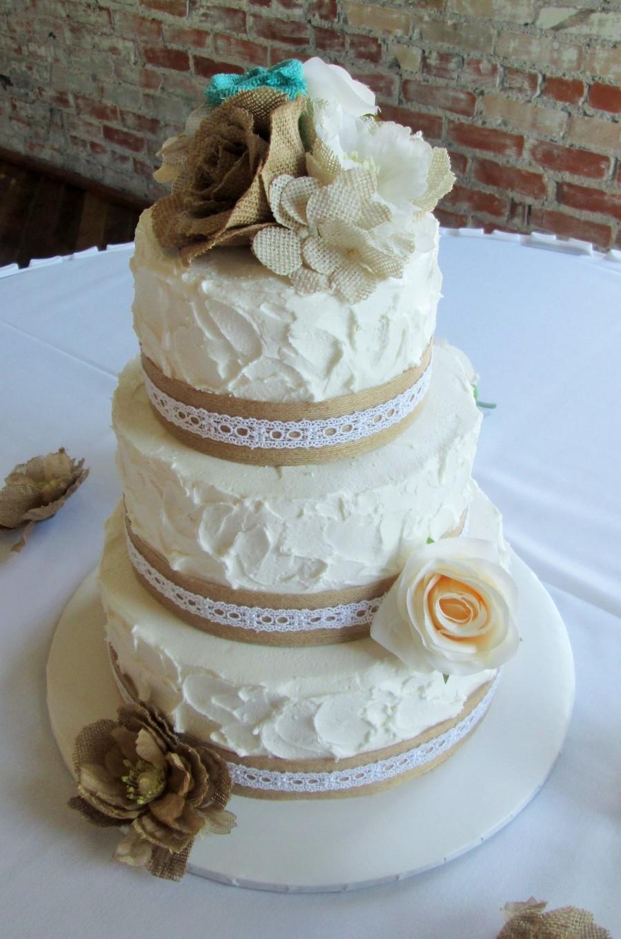 Burlap Lace Weddingcake Cakecentral Com