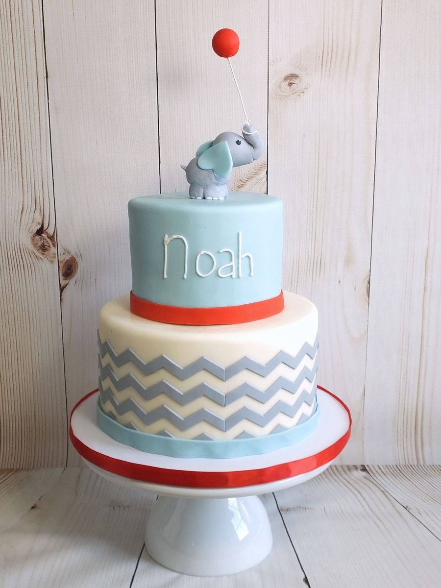 Baby Elephant 1St Birthday Cake on Cake Central